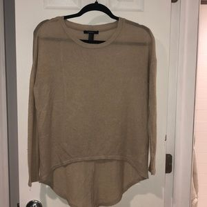 Tan forever 21 size small thin sweater